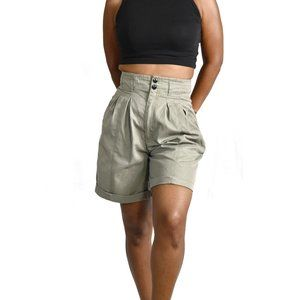 Mom Shorts Vintage High Rise Pleated Size 27